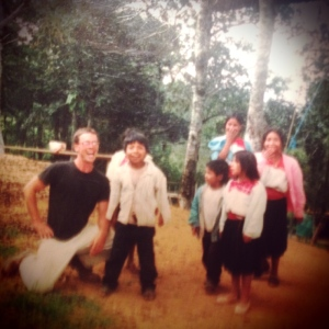 Matt and kids during his first trip to Chiapas